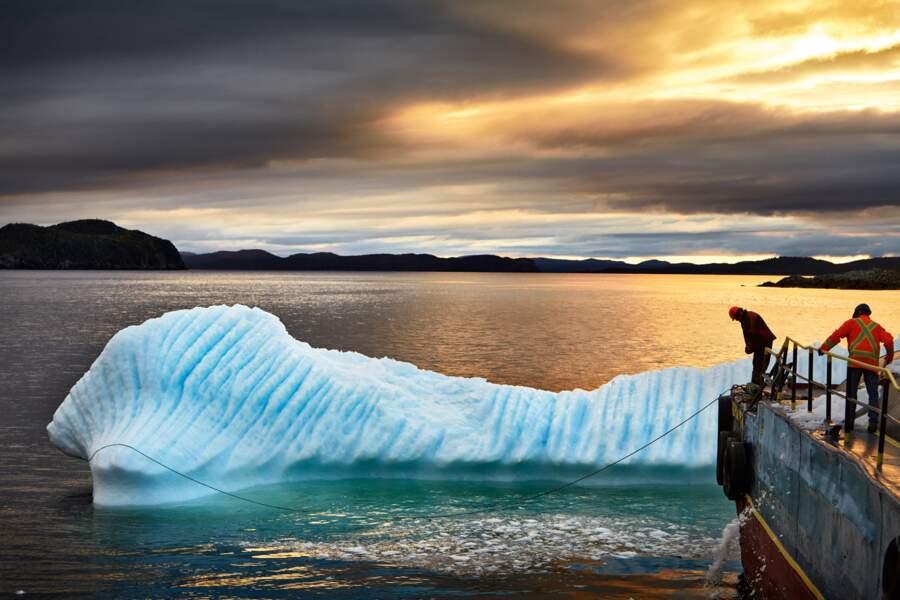 Capture d'un iceberg