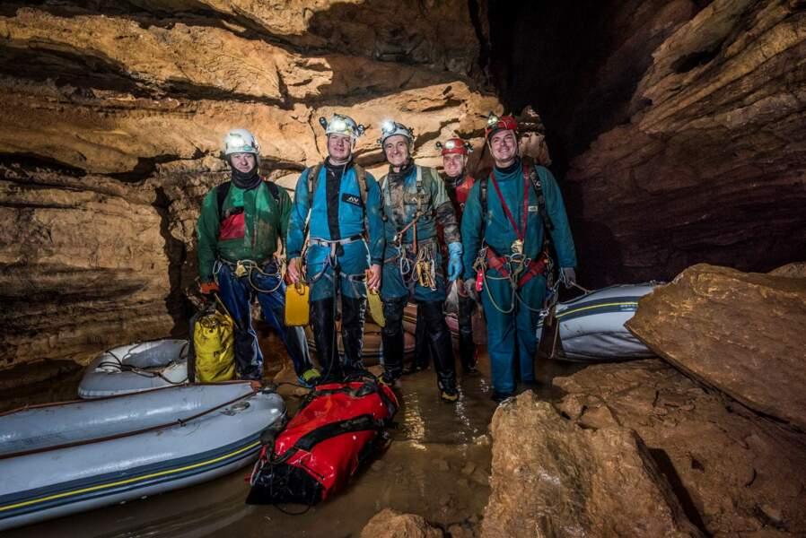 L'équipe au terme de l'expédition