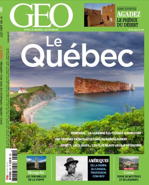 Reportage complet à découvrir dans le GEO de juillet (n°461, Québec)