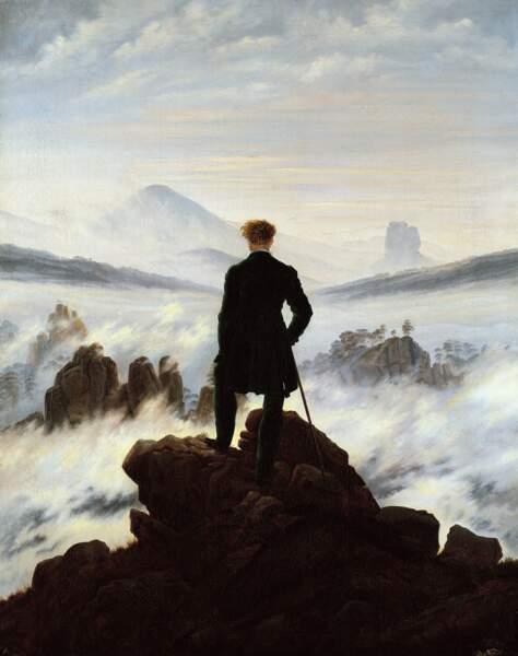 Voyageur devant la mer de nuages, Caspar David Friedrich (1774-1840)