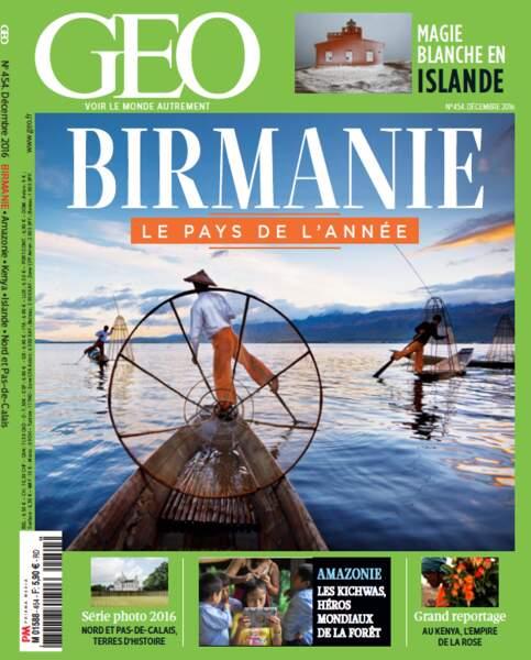 Retrouvez l'intégralité du reportage dans le magazine GEO de décembre 2016 (n°454, Birmanie)
