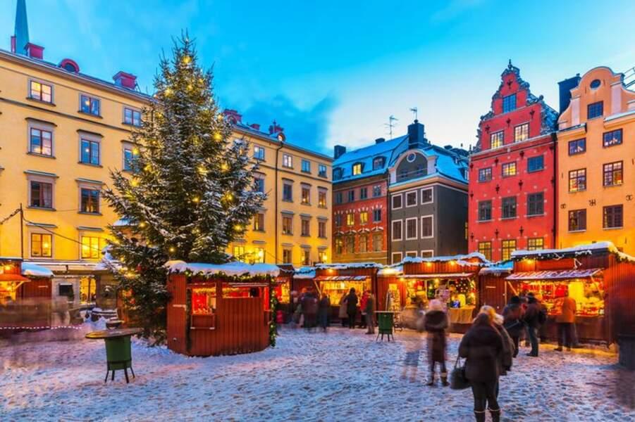 Stockholm, parfaite carte postale de Noël