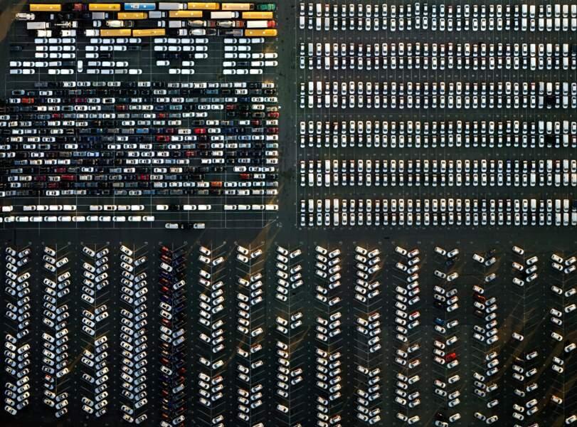 Newark, Etats-Unis : mosaïque automobile