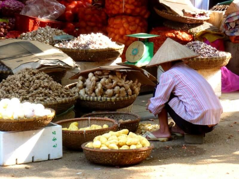Vietnam - Le marché de Hanoï