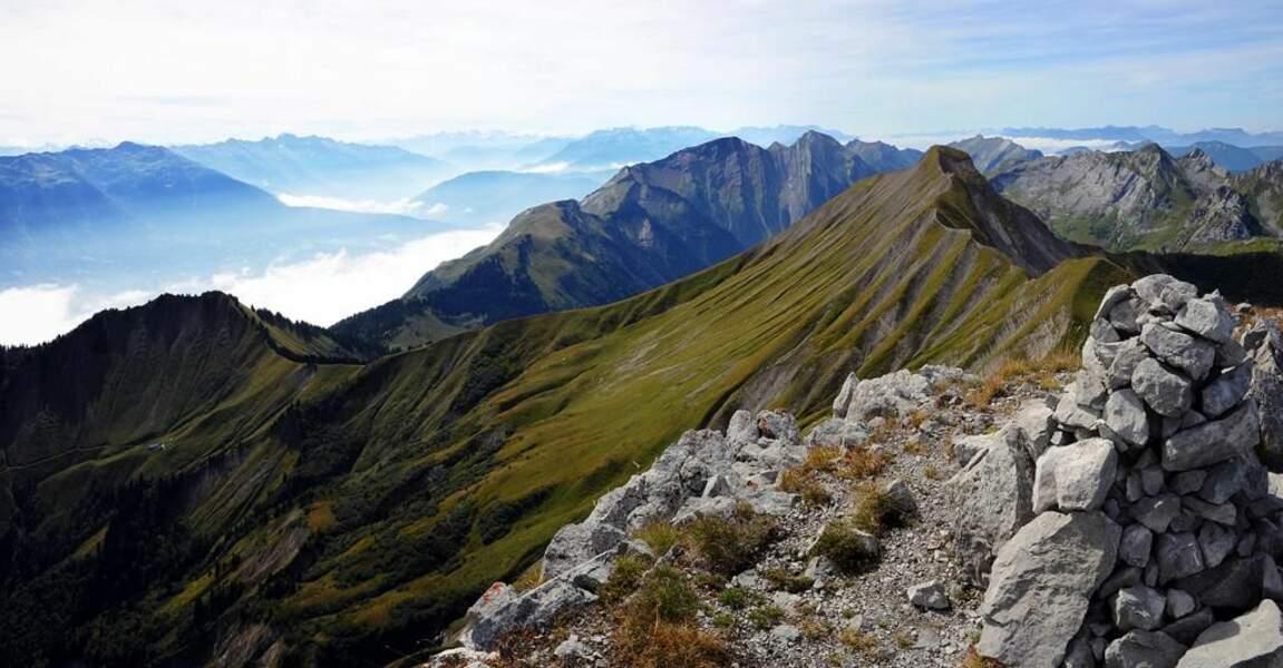 Photo prise à la Pointe de Chaurionde dans le massif des Bauges (Savoie) par le GEOnaute : Mykeul