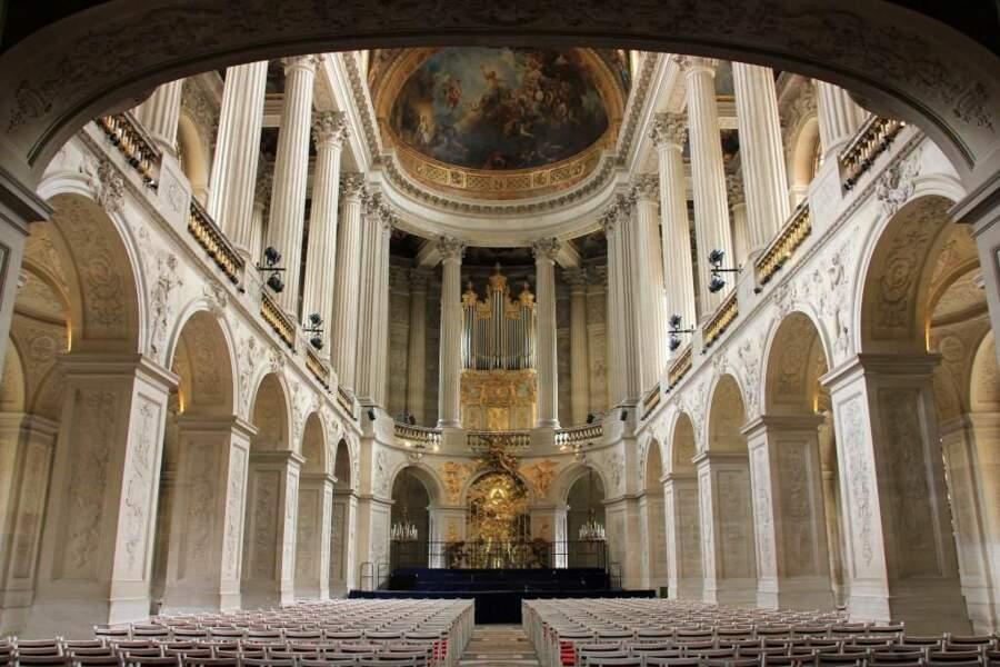 Photo prise à la chapelle du château de Versailles par le GEOnaute : Quadine