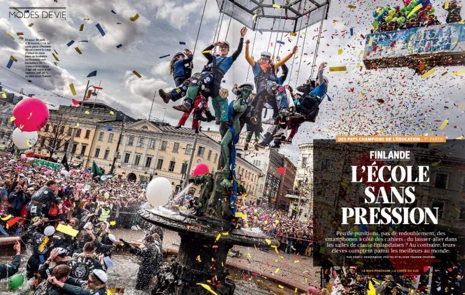 """Découvrez le reportage d'Olivier Touron """"Finlande : L'école sans pression"""" dans le magazine GEO (n°427, sept. 2014)"""