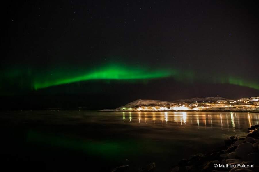 Aurore boréale à Alta, en Norvège