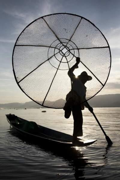 Photo prise au Lac Inle (Birmanie) par le GEOnaute : bertrand.linet