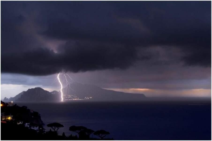 Photo prise à Capri (Italie) par le GEOnaute : rabiller