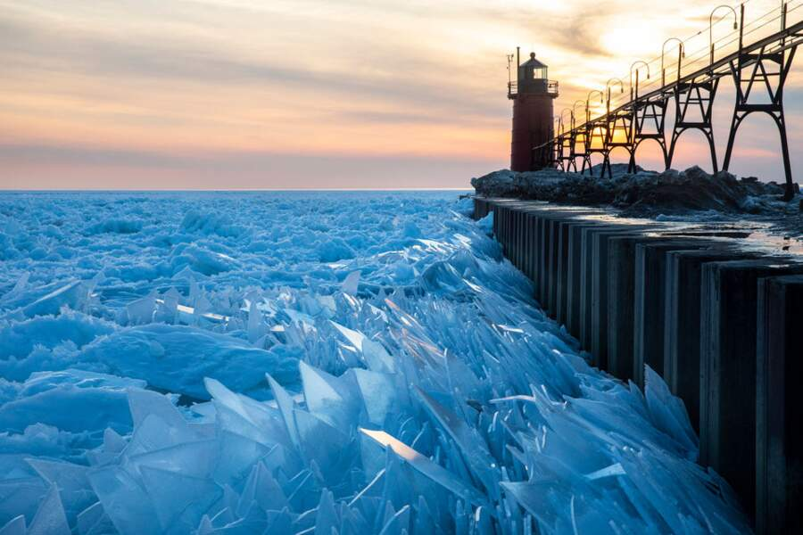 Des tessons de glace