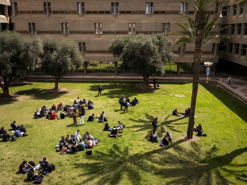 Pause sur le campus