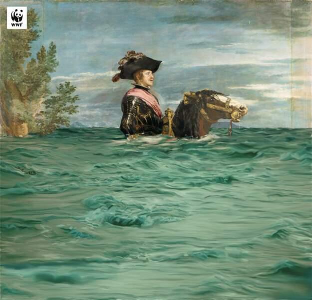 Philippe IV submergé, par le Musée du Prado et le WWF Espagne