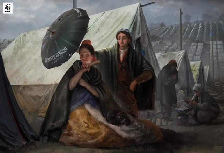Le Parasol des réfugiés climatiques, par le Musée du Prado et le WWF Espagne