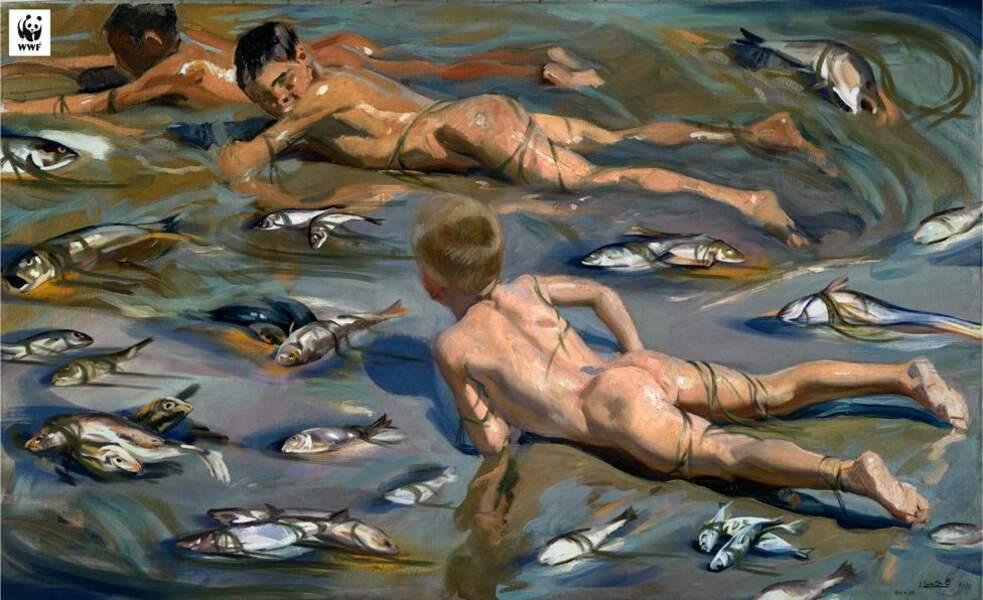 Enfants dans la mer morte, par le Musée du Prado et le WWF Espagne