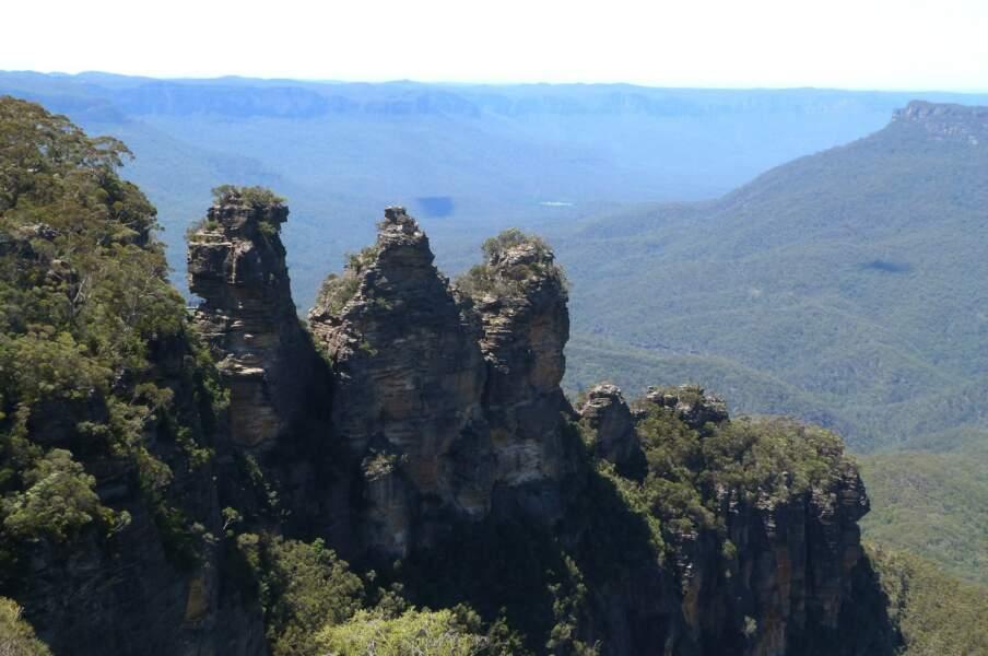 Les Trois sœurs (Three Sisters en anglais) dans les Montagnes Bleues