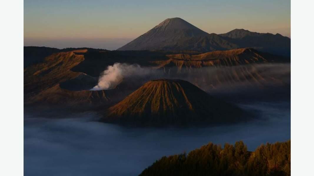 Volcans Bromo, Batok, Semeru et Kursi