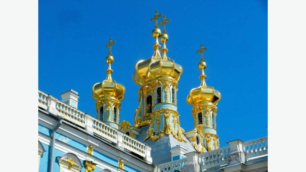 Palais Catherine à Pouchkine non loin de Saint-Pétersbourg (détail)