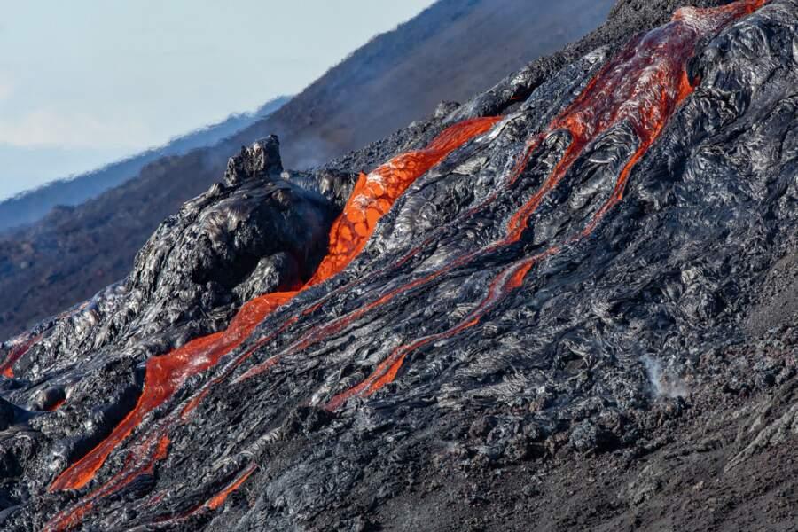 L'éruption s'est produite sur le flanc est du mastodonte réunionnais