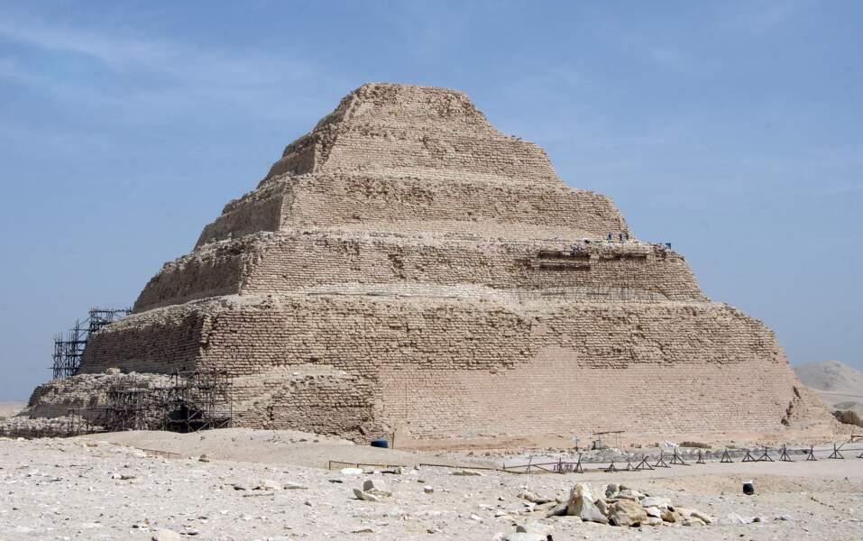 La pyramide du pharaon Djoser à Saqqarah (Egypte)