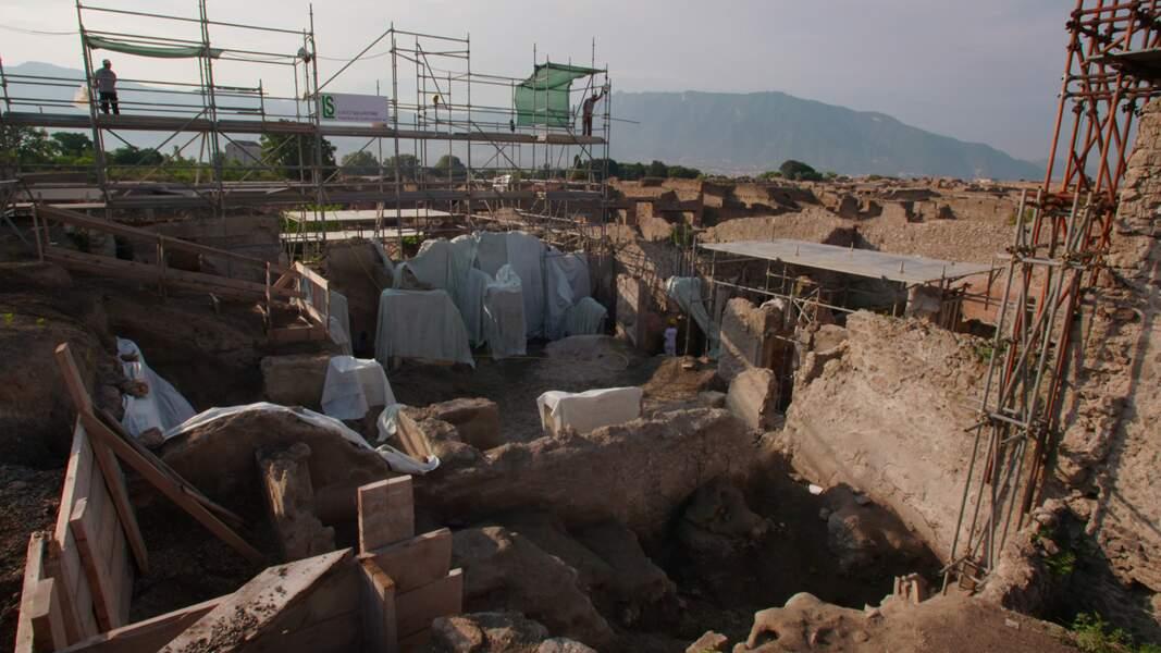 Vue des fouilles en cours dans la Regio V, Pompéi