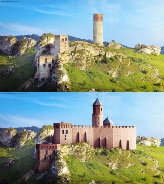 Le château d'Olsztyn, Pologne