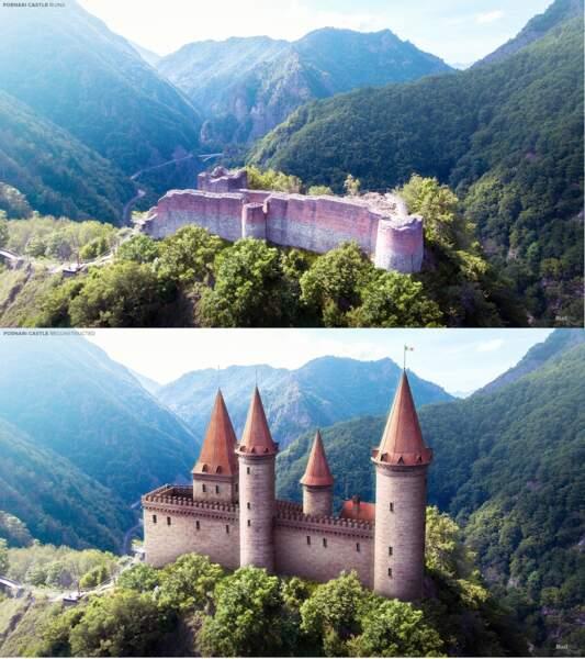 La forteresse de Poenarie, Roumanie
