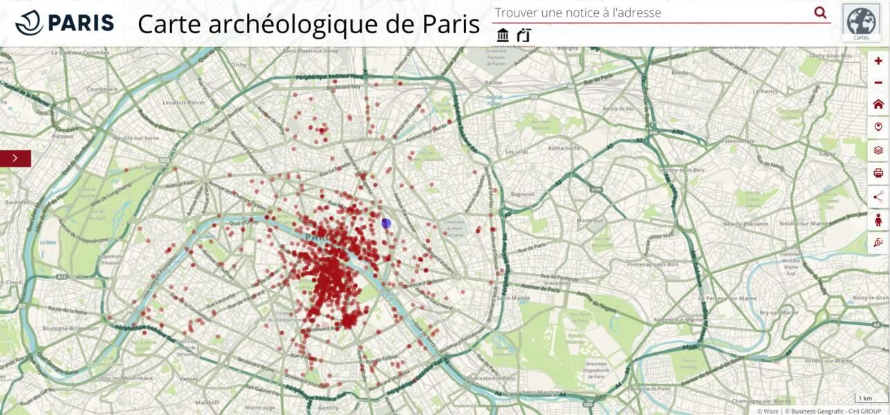 Consultez la carte archéologique de Paris
