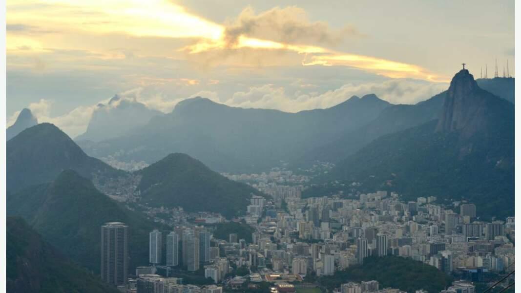 Coucher de soleil sur Rio de Janeiro