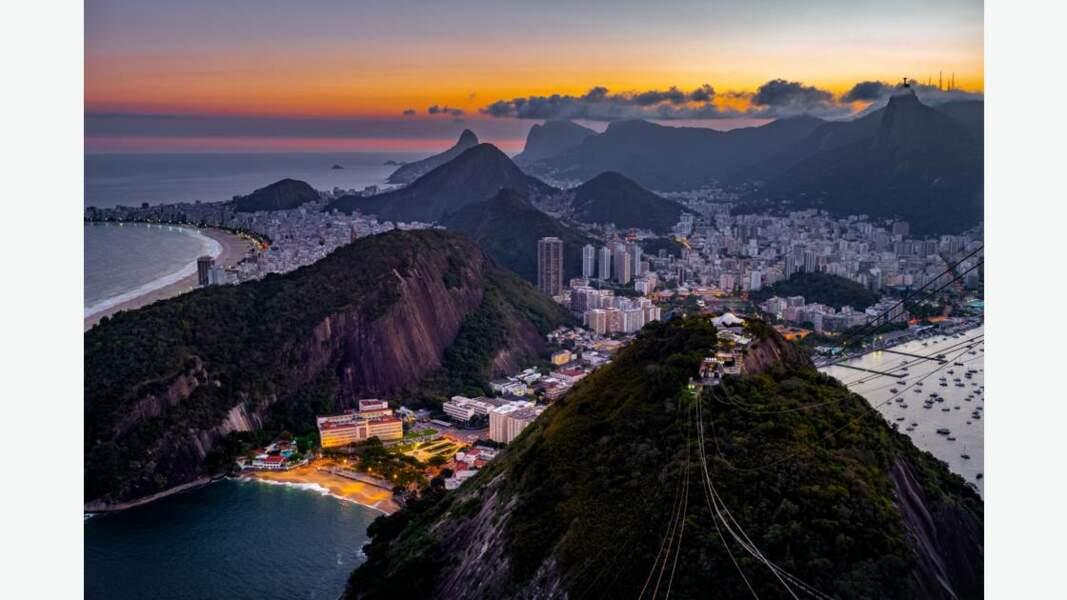 Rio de Janeiro photographié depuis le Pain de Sucre