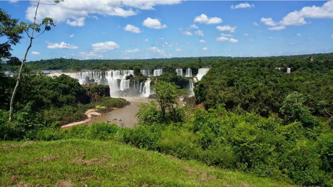 Les célèbres chutes d'Iguazú côté brésilien