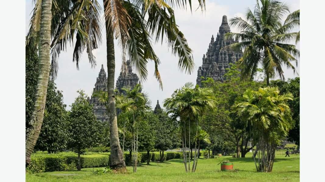 Temples et nature luxuriante