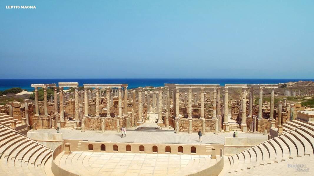 La ville antique de Leptis Magna, Libye : aujourd'hui