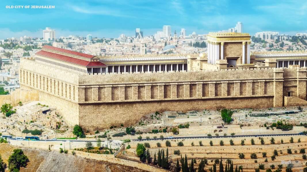 La vieille ville de Jérusalem et ses remparts : reconstruit