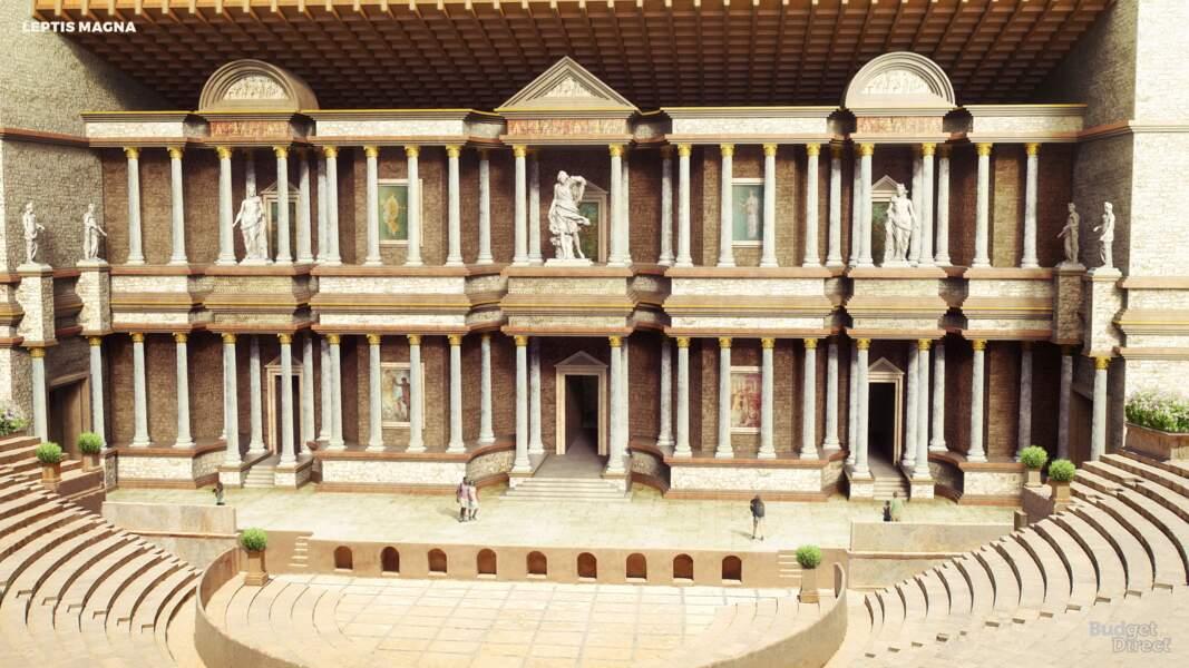 La ville antique de Leptis Magna, Lybie : reconstruit