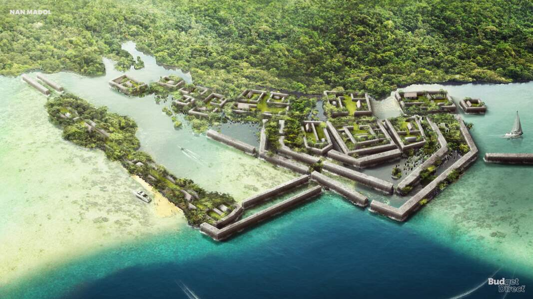 Le site de Nan Madol, Micronésie : reconstruit