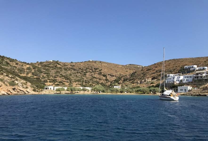 Glypho vue d'un bateau