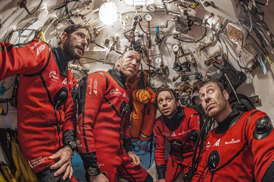 Quatre aventuriers sous-marins