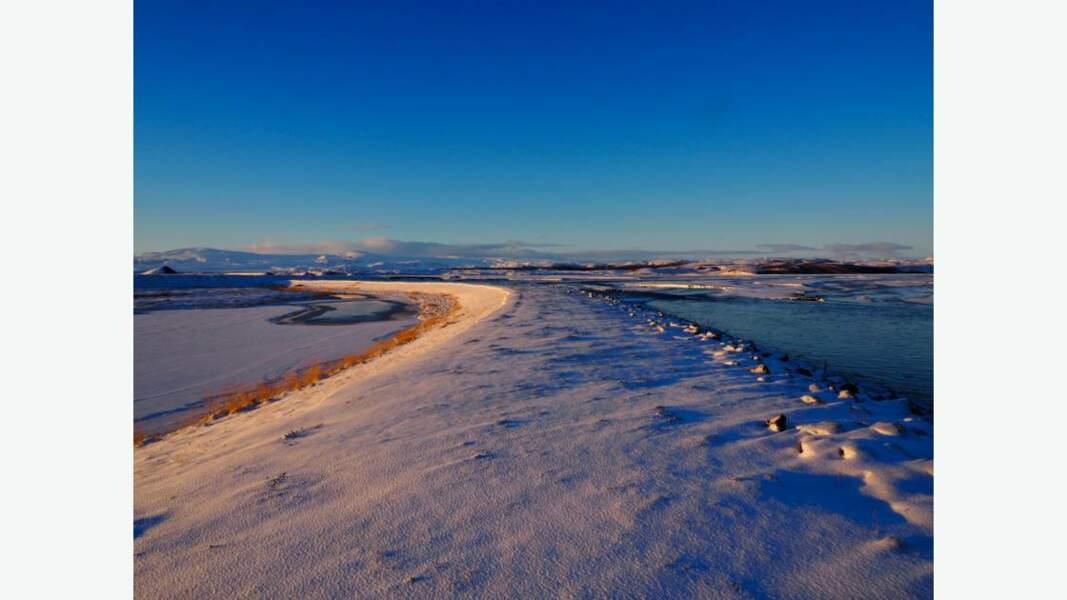 L'entre-deux, paysage hivernal