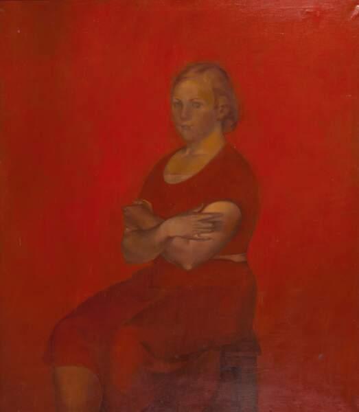 Portrait d'une jeune fille en rouge