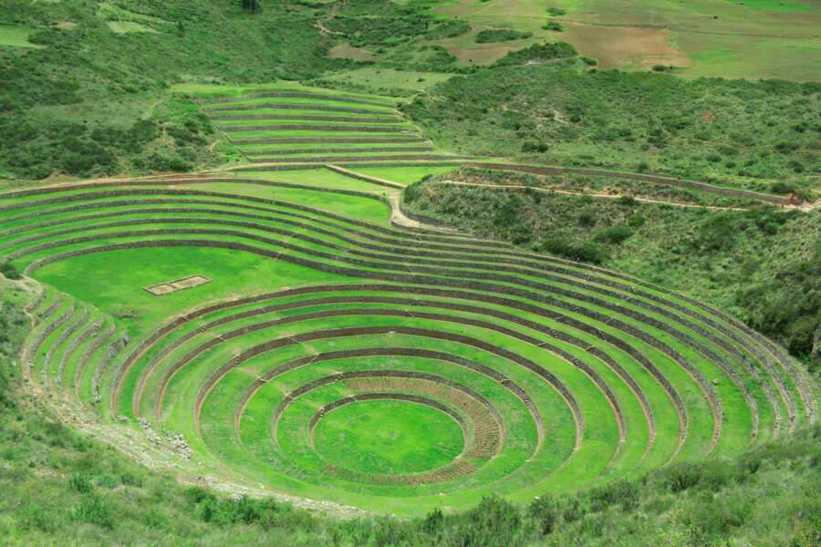 Le champ de Moray permet, depuis le XVIe siècle, d'optimiser la moindre parcelle agricole