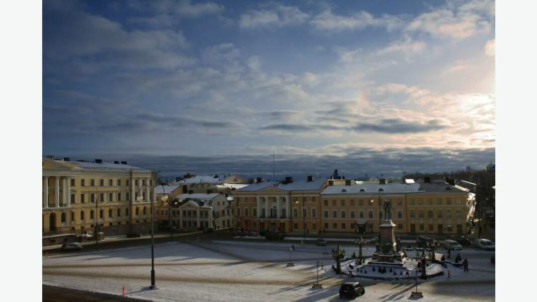 Centre ville d'Helsinki en hiver