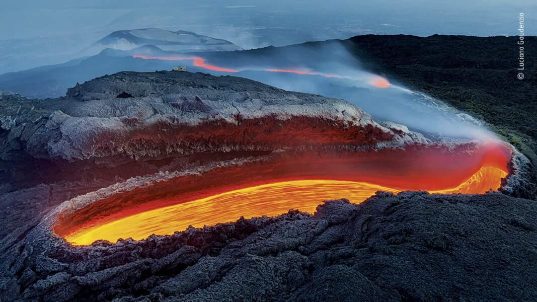La coulée de feu de l'Etna