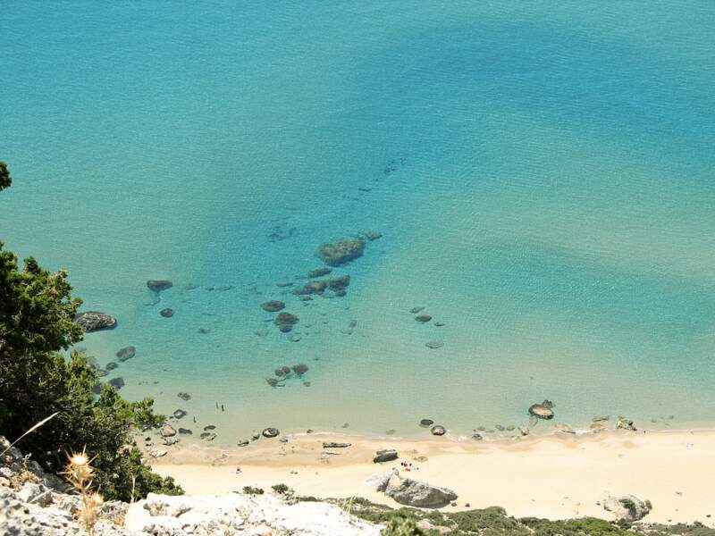Plage de Tsambika, île de Rhodes