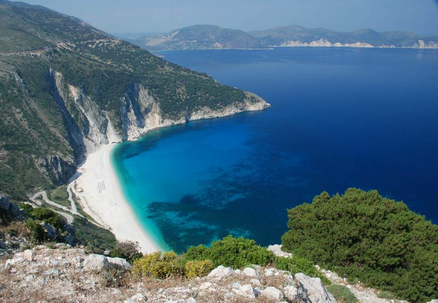 Plage de Myrtos, île de Céphalonie