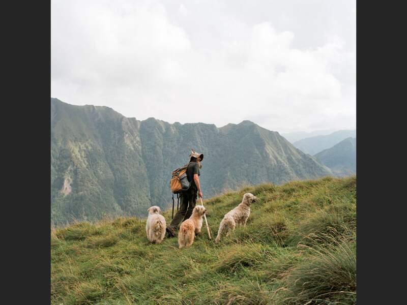 Berger près du Mont Valier, en Ariège, dans les Pyrénées françaises