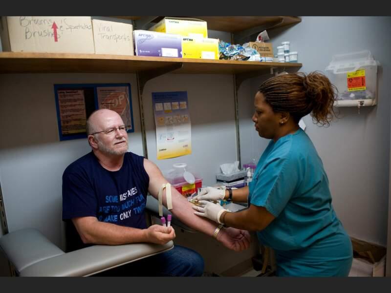 Dans ce dispensaire de Nashville, les personnes à faible revenu ou non assurées peuvent se faire soigner à moindre coût (Tennessee, Etats-Unis).