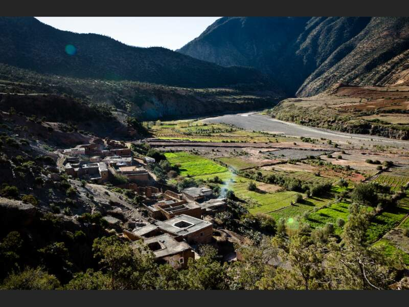 Village berbère à 2000 m d'altitude, dans le Haut-Atlas, au Maroc