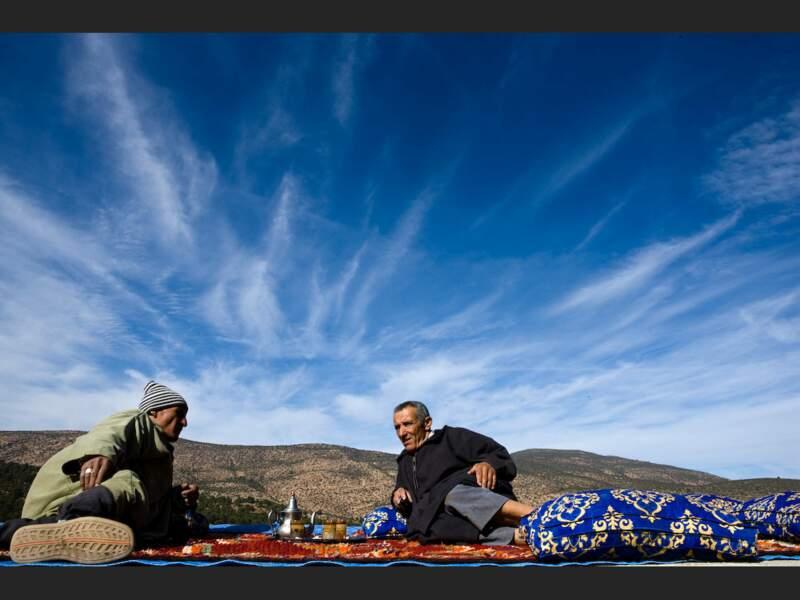 Économie locale dans un village berbère du Haut-Atlas, au Maroc.
