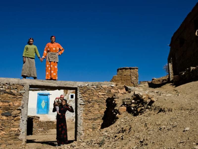 Tilfitine, un village berbère isolé à 70 km de Marrakech, dans le Haut-Atlas, au Maroc.
